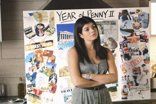 penny with her vision board